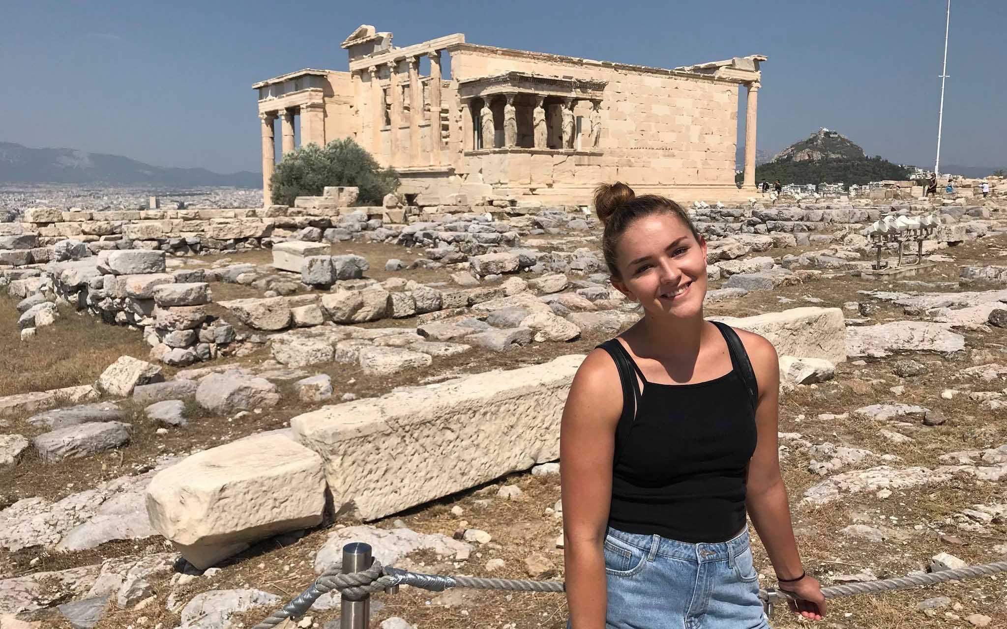 Taylor exploring Athens